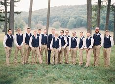 Vests for the groomsmen