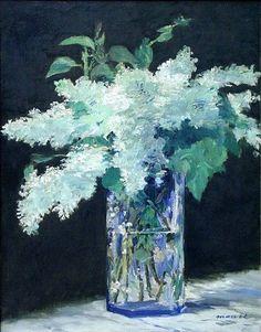 """Lilas en un jarrón"" de Édouard Manet."
