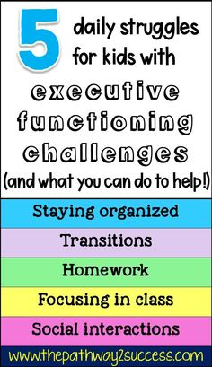 Do your students struggle with focusing in class? Staying organized? Finishing their homework? These challenges are actually deficits with executive functioning skills. Learn about what these daily struggles really mean and how you can implement simple strategies in the classroom or at home to help! Study Skills, Coping Skills, Life Skills, Teaching Social Skills, Social Emotional Learning, Adhd Strategies, Organization Skills, School Social Work, Executive Functioning