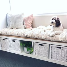 See 20 of the best Ikea Kallax Hacks ideas and the different ways you can DIY them for your home. The Ikea Kallax is the perfect storage solution for the living room, it makes great tv stands! Diy Kallax, Ikea Kallax Shelf, Kallax Shelving Unit, Ikea Kallax Regal, Ikea Kallax Hack, Modular Shelving, Ikea Hack Bench, Ikea Shelf Hack, Ikea Bedroom