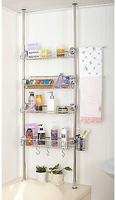 Stafix Bathroom Shelf 4tier Home Corner Shelves Shower Basket Rack Stainless Diy