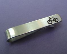 Bike Tie Clip Tie Bar Tie Clip The Perfect Gift by MetalsHeart