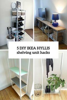 How To Hack IKEA Hyllis Shelving Unit: 5 DIY Ideas | Shelterness