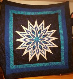 Feathered Star, Quiltworx.com, Made by Hope Francisco