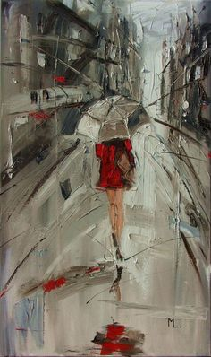 """Buy """" SOMEDAY """"  100X60 CMABSTRACT original OIL painting CITY palette knife GIFT MODERN URBAN ART OFFICE ART DECOR HOME DECOR GIFT IDEA, Oil painting by Monika Luniak on Artfinder. Discover thousands of other original paintings, prints, sculptures and photography from independent artists."""