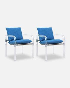 Mid-Century Modern Pipe Line Series II Arm Chairs by Jeff Messerschmidt from Danish Modern LA of Los Angeles, CA Danish Modern, Mid-century Modern, Lounge Chair, Arm Chairs, Lucite Chairs, Tweed, Outdoor Chairs, Outdoor Furniture, Mid Century Modern Furniture