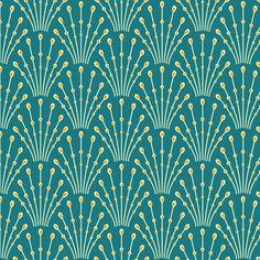 art deco beads - peacock fabric by coggon_(roz_robinson) on Spoonflower - custom fabric