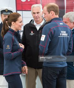 Catherine, Duchess of Cambridge and Prince William, Duke of Cambridge visit the New Zealand team HQ during their visit to The America's Cup World Series on July 26, 2015 in Portsmouth, England. (Photo by Samir Hussein/WireImage)