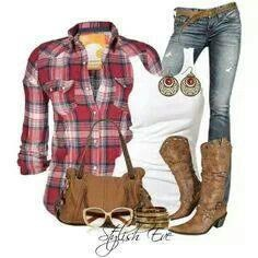 Flannel and jeans