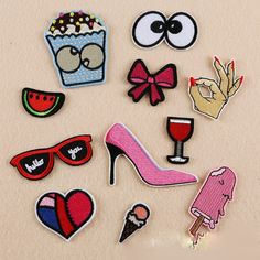 Cheap patch for clothes iron, Buy Quality heart patch directly from China patches for clothes Suppliers: Embroidered Heart patches for clothes iron on Applique Patch Fabric Sticker Badges DIY Sew Accessories Pink High heels Patches