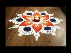 Simple , Easy and Quick freehand Rangoli designs with colours/ Rangoli Designs by Shital Daga Easy Rangoli Designs Videos, Rangoli Designs Latest, Rangoli Designs Flower, Small Rangoli Design, Colorful Rangoli Designs, Rangoli Designs Diwali, Flower Rangoli, Beautiful Rangoli Designs, Sanskar Bharti Rangoli Designs
