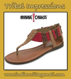 Ibiza Beaded Sandal - Minnetonka Sandals You'll Love From Tribal Impressions! Review the collection off of: http://www.indianvillagemall.com/mocs/sandals.html