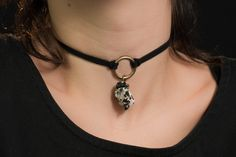 Black and White Tourmaline Crystal Choker Black by LaBoboa CLICK pic & use coupon code PIN10 to save 10% now