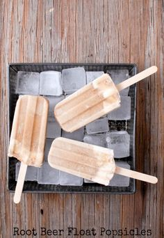 An old-fashioned treat is reimagined with these root beer float popsicles, ideal for the summertime heat.  Get the recipe at Boulder Locavore.   - CountryLiving.com