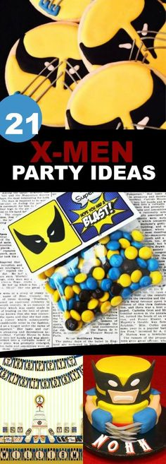 X-MEN, LOGAN, WOLVERINE BIRTHDAY PARTY IDEAS INCLUDING PARTY FOOD, FAVORS, GAMES. ACTIVITIES, CAKES AND MORE via /spaceshipslb/