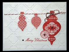 CAS Ornament Keepsakes Card