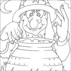 Dibujos para imprimir en Halloween - printable witch