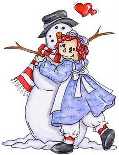 *RAGGEDY ANN & THE SNOWMAN