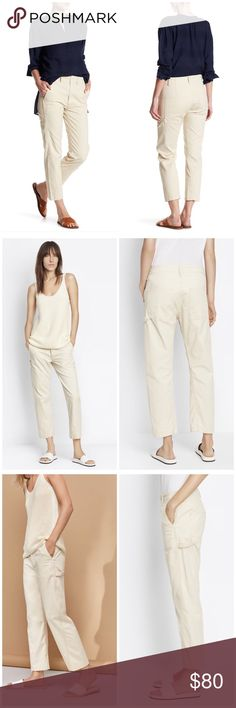 Vince Khaki Carpenter Cargo Pants So cute and perfect dressed up or down! Excellent pre owned condition! Size 30. Khaki. Cargo pocket detail. No trades!! 01151740gwb Vince Pants Trousers