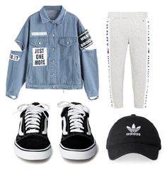 """""""Hip"""" by polyvoredesignssss on Polyvore featuring Tommy Hilfiger and adidas"""