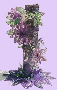 Kathleen Laurel Sage-Clematis vase