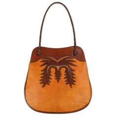 aaeae0f50ff 1stdibs Shoulder Bag - Wyly C.1970 Leather   Ostrich Handcrafted  Southwestern Leather