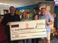 Ernie Palmer Toyota making a donation of $20000 to St. Jude Children's Research Hospital. #ErniePalmerToyota