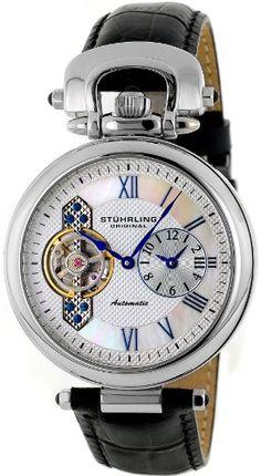 Stuhrling Original Men's 127.33152 Special Reserve Emperor Automatic Skeleton Dual-Time Zone Watch $184.95