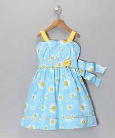 Take a look at this Blue Daisy Dress - Infant, Toddler & Girls   by Nannette on #zulily today!
