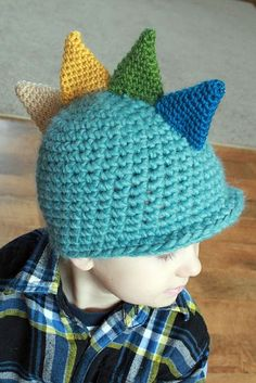 dino hat #crochet #hats