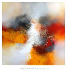 Eelco Maan, Illuminata, 100 x 100 cm, mixed media on canvas ...