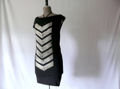 Bronze Chevron Dress by JessalinBeutler on Etsy, $40.00