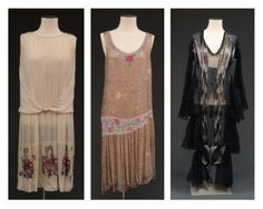 Jeanne Lanvin (attributed to) 3 beaded and embroidered dresses Vintage Clothing, Vintage Dresses, 1920s Clothes, Vintage Outfits, 30s Fashion, I Love Fashion, Vintage Fashion, Jeanne Lanvin, Court Dresses