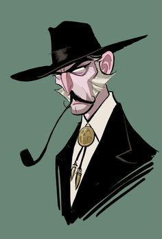 Lee Van Cleef, from 'The Good, The Bad, & The Ugly', Illustration by Oscar Jimenez.