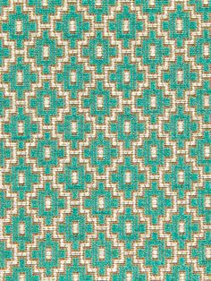 Peacock Blue Dark Pink Geometric Woven by PopDecorFabrics on Etsy