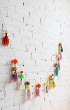 Cutest pompom garland ever. From Baba Souk