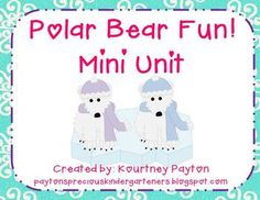 Polar Bear Fun! Facts, Tree Maps, Crafts, Experiments and more! $