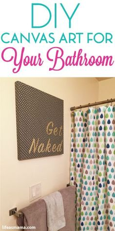 DIY Canvas Art For Your Bathroom