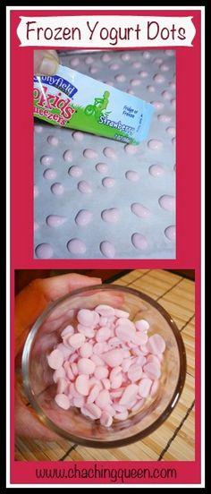 Frozen Yogurt Dots – Healthy Dessert for Kids