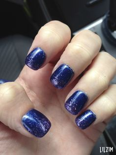 Blue with Purple Glitter