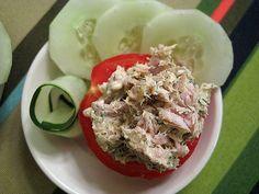 Low carb snacks that are super YUMMY.....good idea stuff tuna in a pepper:)