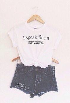 Soft Grunge Outfit: Speak Fluent Sarcasm - USD $17.00  //// LuckyMelli.com