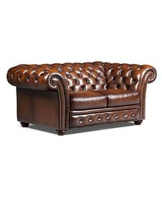 Canapé-lit Chesterfield 3 places en cuir marron   Chesterfield and ...