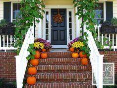pinterest front porch decorating | Front Porch Decorations for Autumn