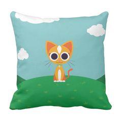 Purrl the Cat. Regalos, Gifts. #cojín #pillow