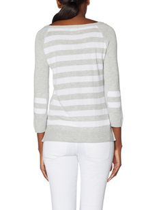 OBR Striped Back Elbow Patch Sweater from THELIMITED.com