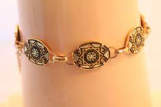 Vintage DAMASCENE Spain braceletmint conditionand by GIABIJOUX, $35.00