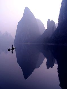 Calm morning-Li River >> how magical! I would feel like a Goonie!
