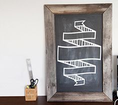 Awesome chalkboard art pattern cut with vinyl. Made with the Cricut Explore!