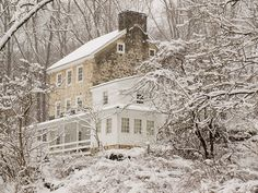 Old farm house in snow - White Clay Preserve | Flickr - Photo Sharing!
